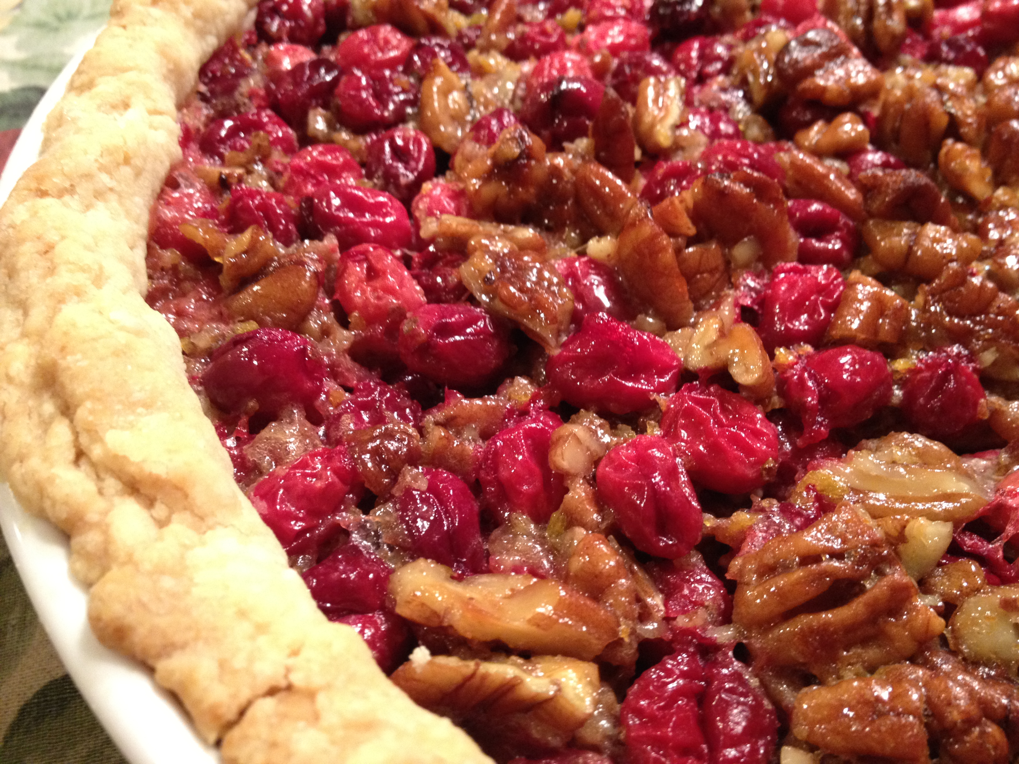 Really Great Cranberry Pecan Pie - Down to Earth Living