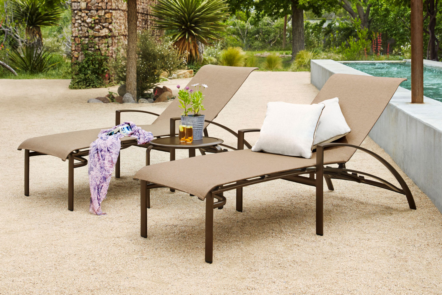 Outdoor and patio furniture down to earth living for Agio heritage chaise lounge
