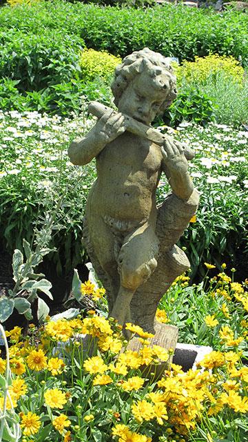 Cherub and Flute Statue