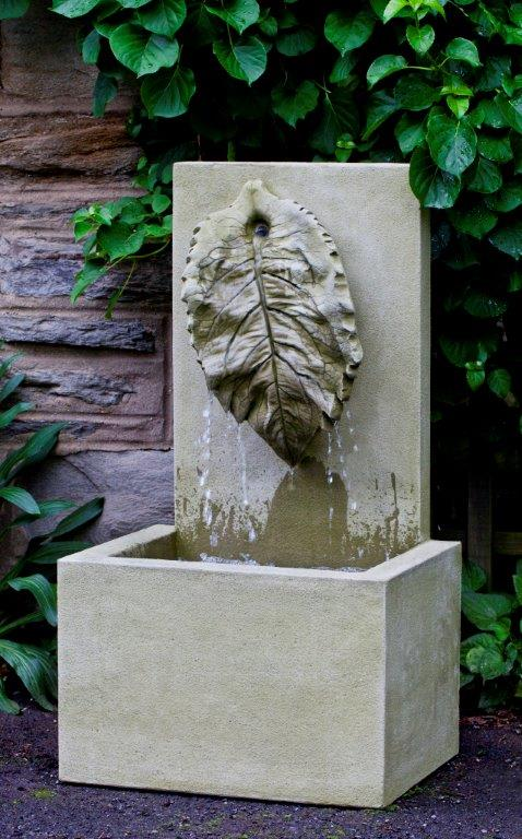 Modern Leaf Water Sculpture