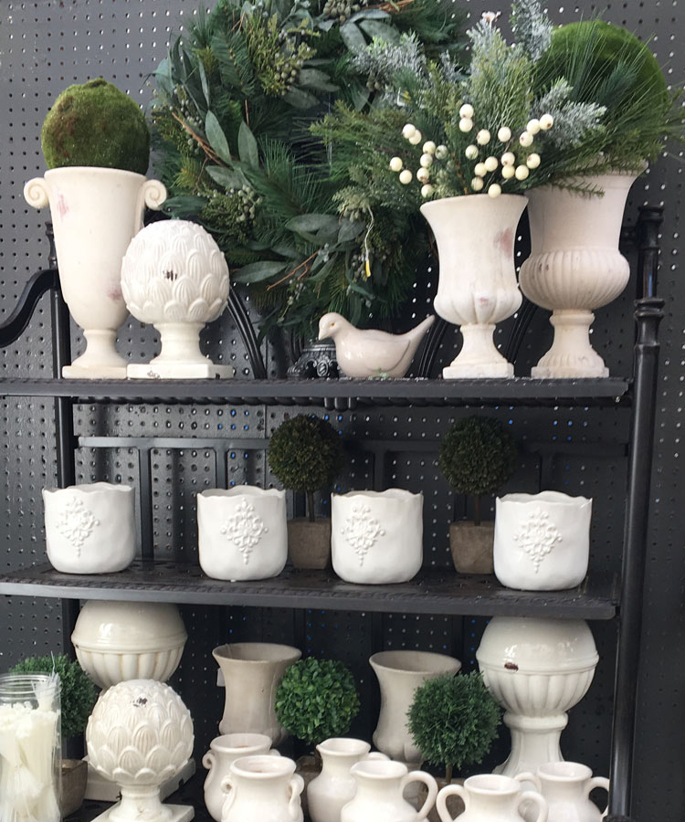 White Vases and Candle Holders