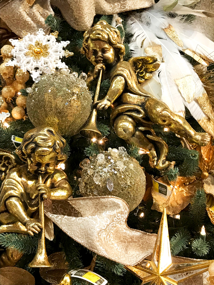 Cherub with Trumpets and Other Ornaments