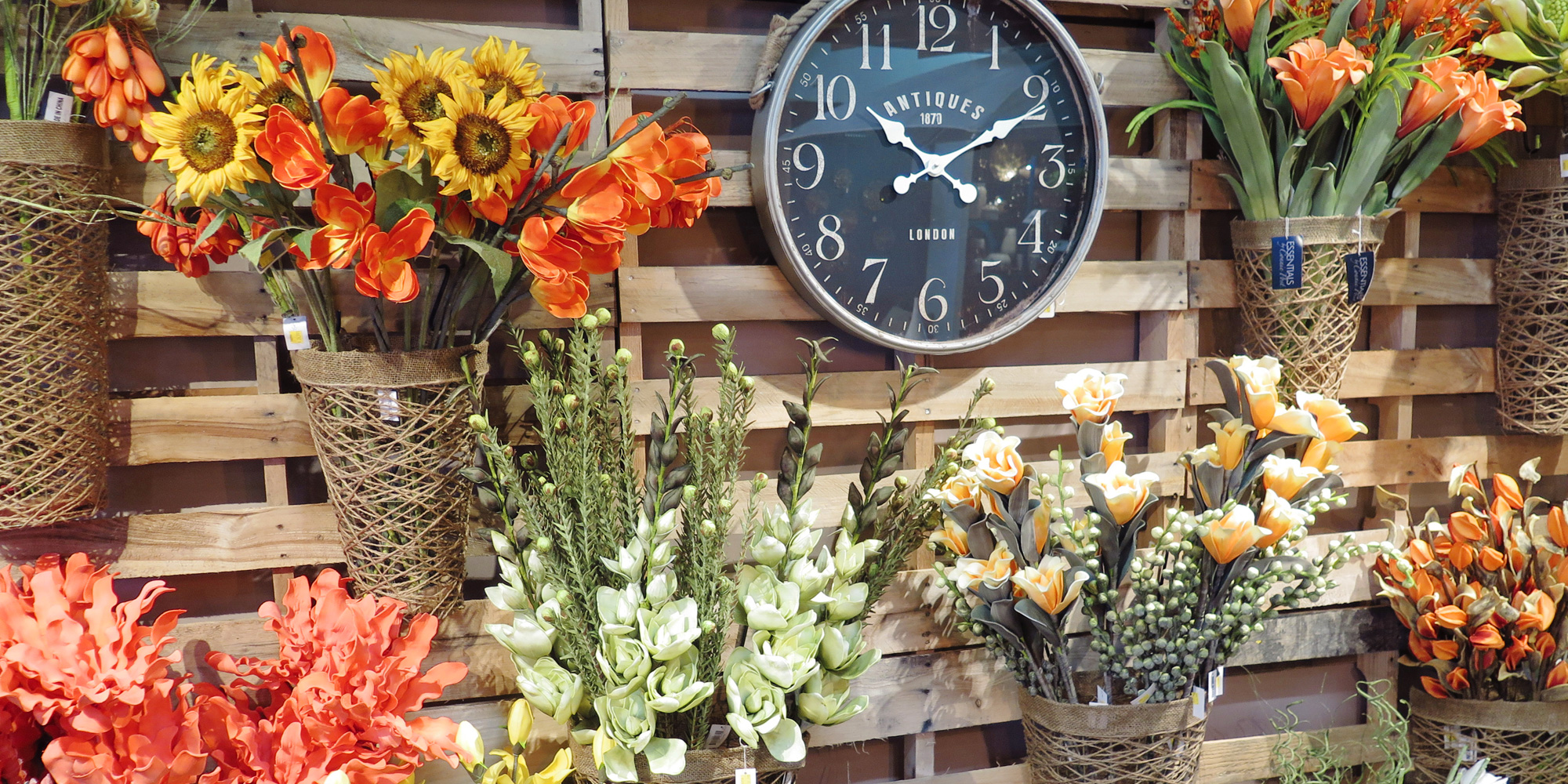 Flowers and Wall Clocks