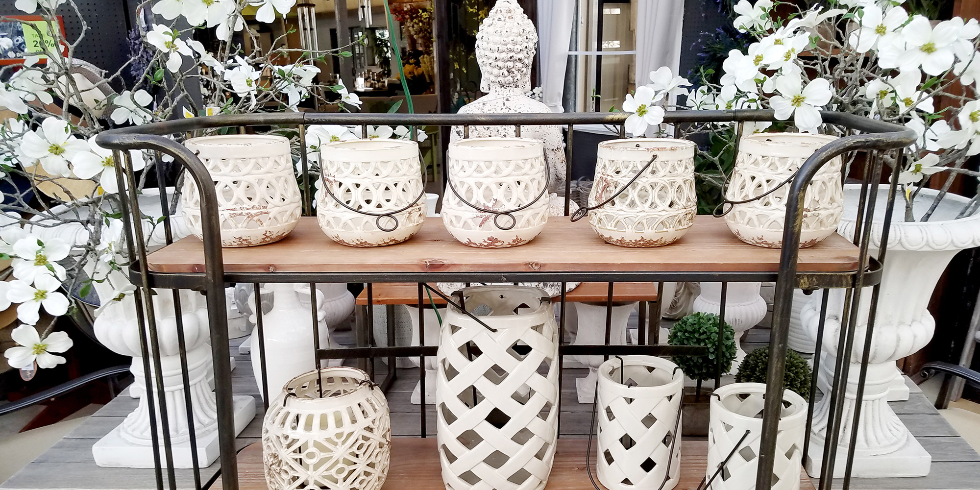 White Vases at DTE Living