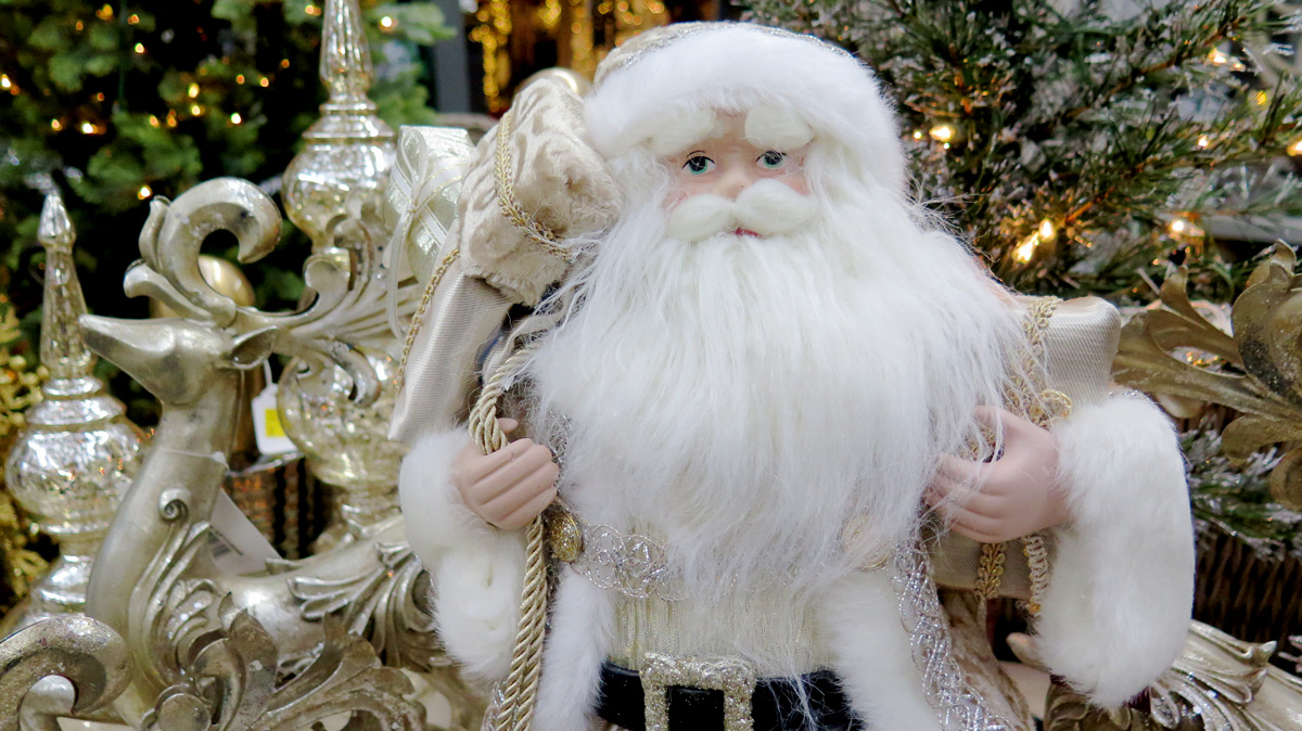 White and Gold Santa
