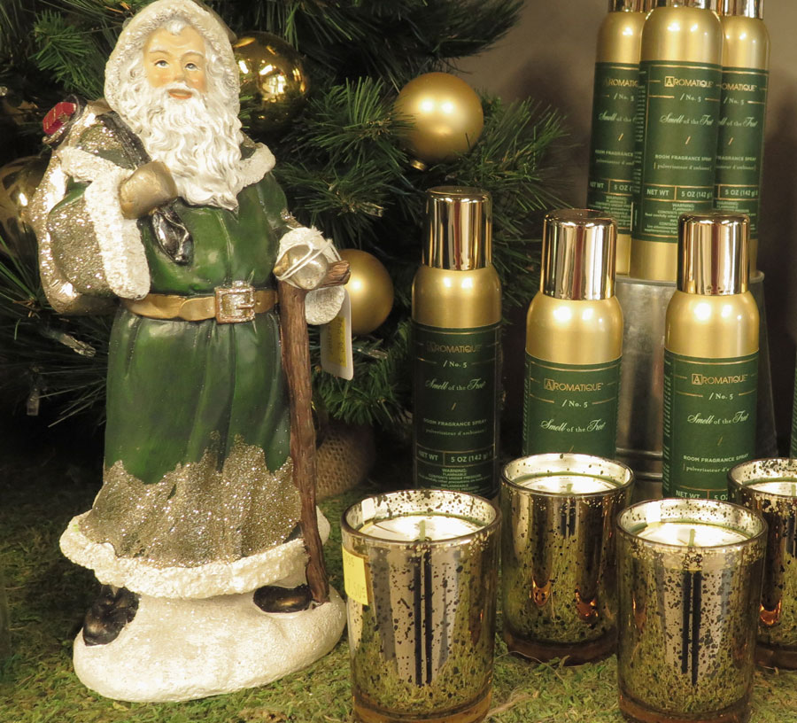 Green Santa, Candles and Pine Fragrances