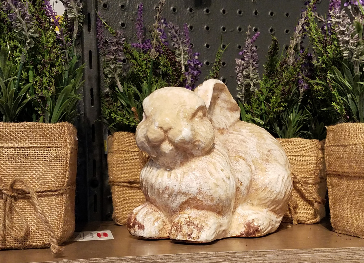 Cute Decorative Bunny with Lavender