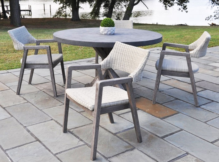 Spencer dining outdoor furniture set by Kingsley-Bate