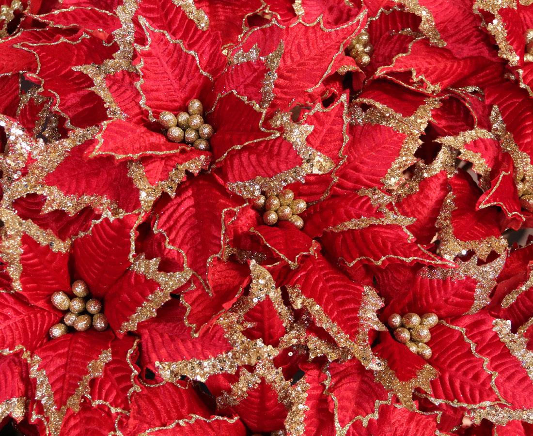 Decorative Artificial Poinsettias