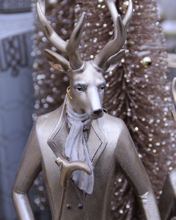 Gentleman Reindeer Figurine