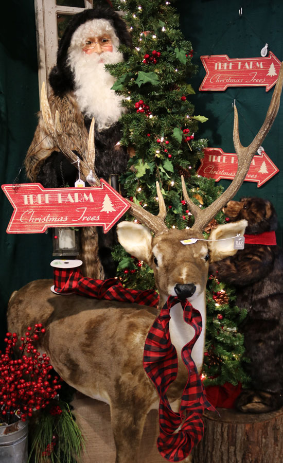 Santa and Reindeer Christmas Decor
