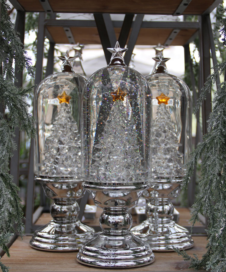 Gorgeous Silver and Glass Christmas Decor