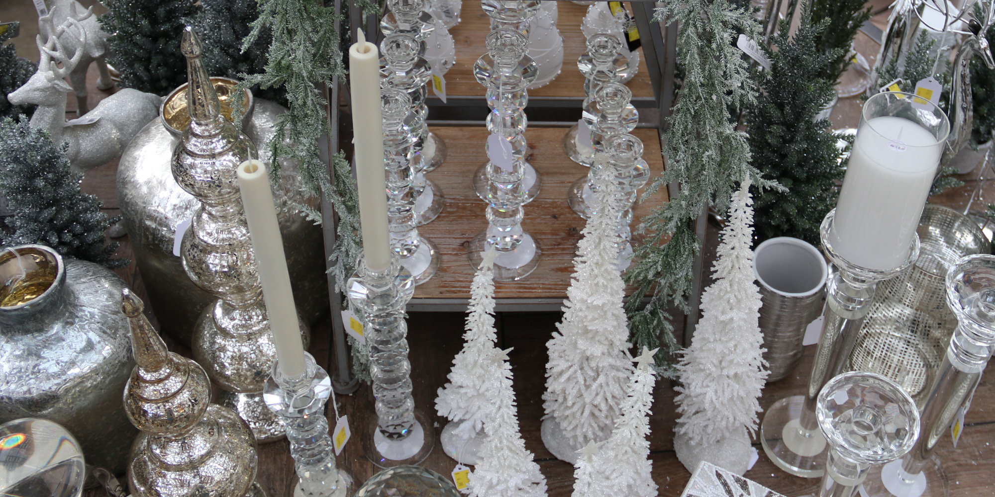 Glass candlesticks and holders