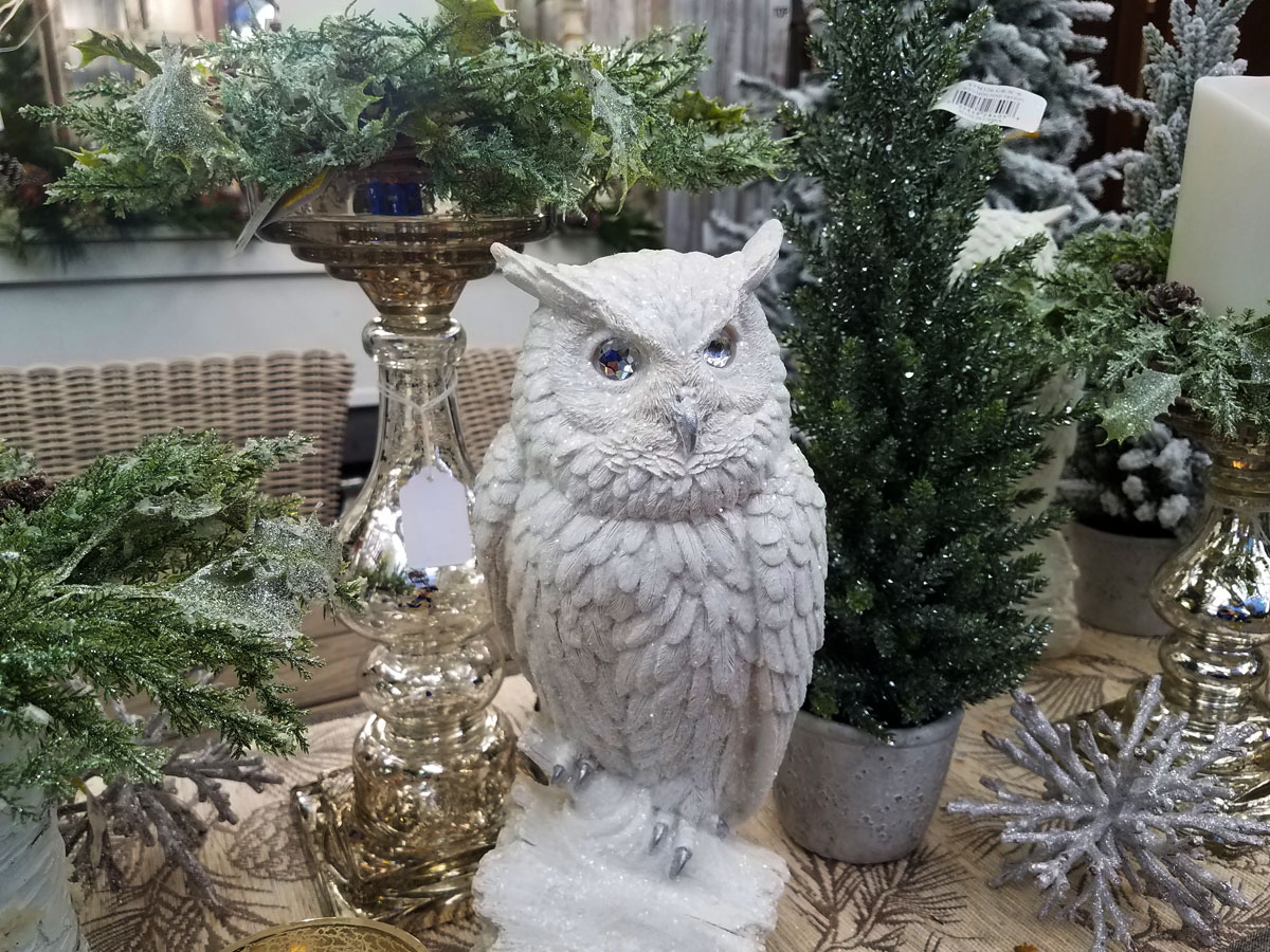 Owl and Tabletop Christmas Decor