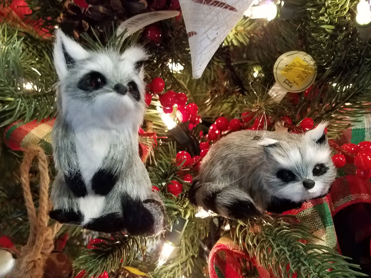 Plush Raccoon Decorations