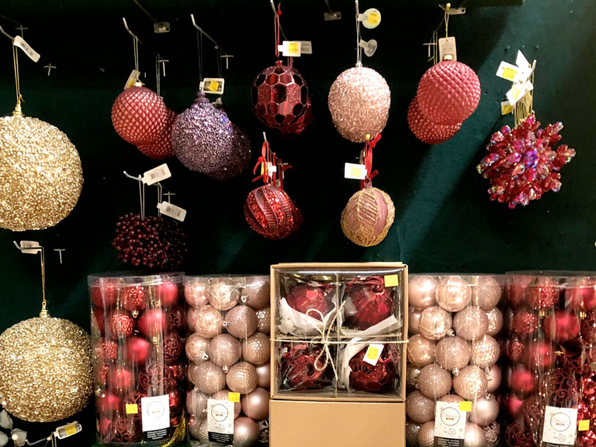 A Wide Selection of Christmas Ornaments