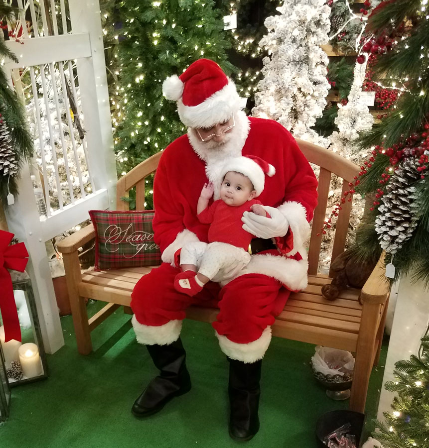 Santa's visit brings a smile to everyone's face