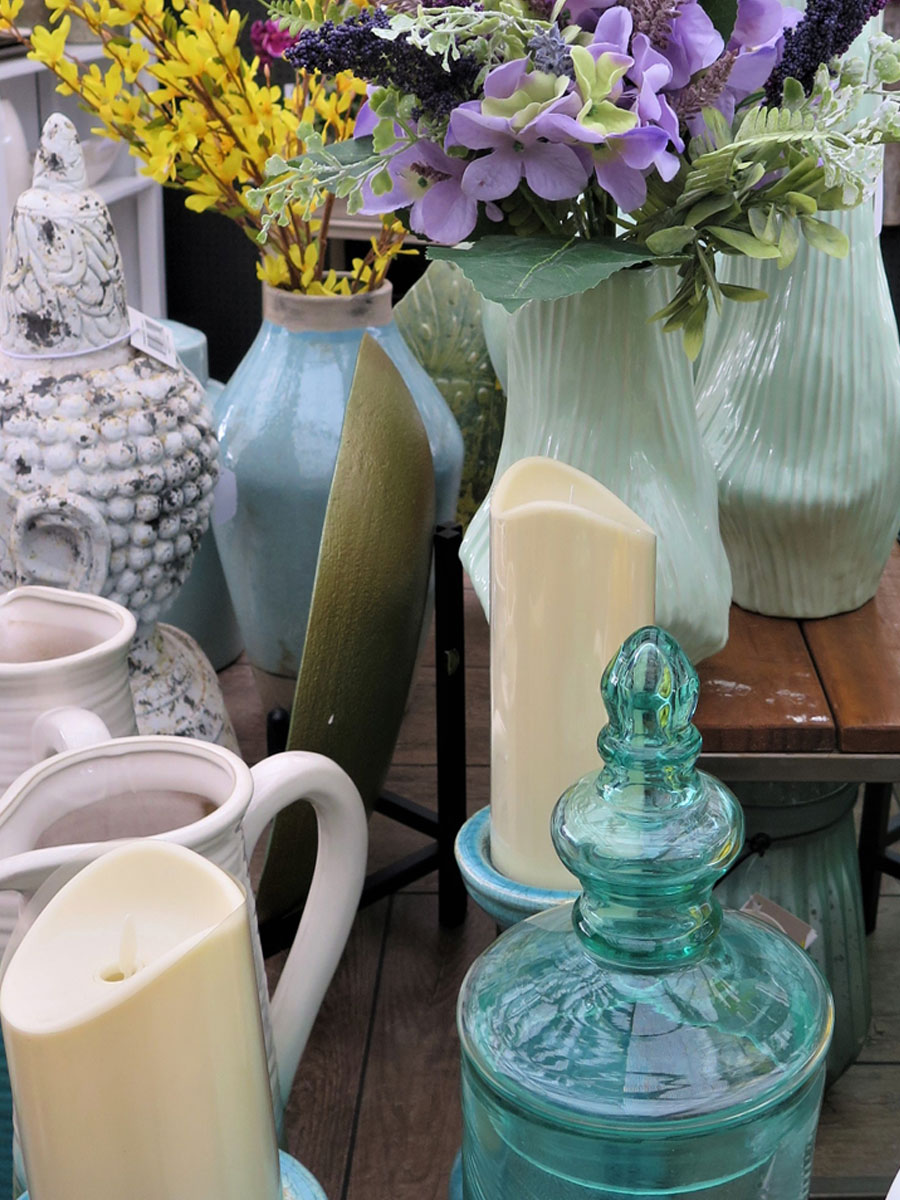 An incredible selection of jars, vases, candles and more!