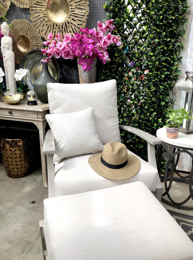 Outdoor Furniture and a Wide Selection of Summer Hats