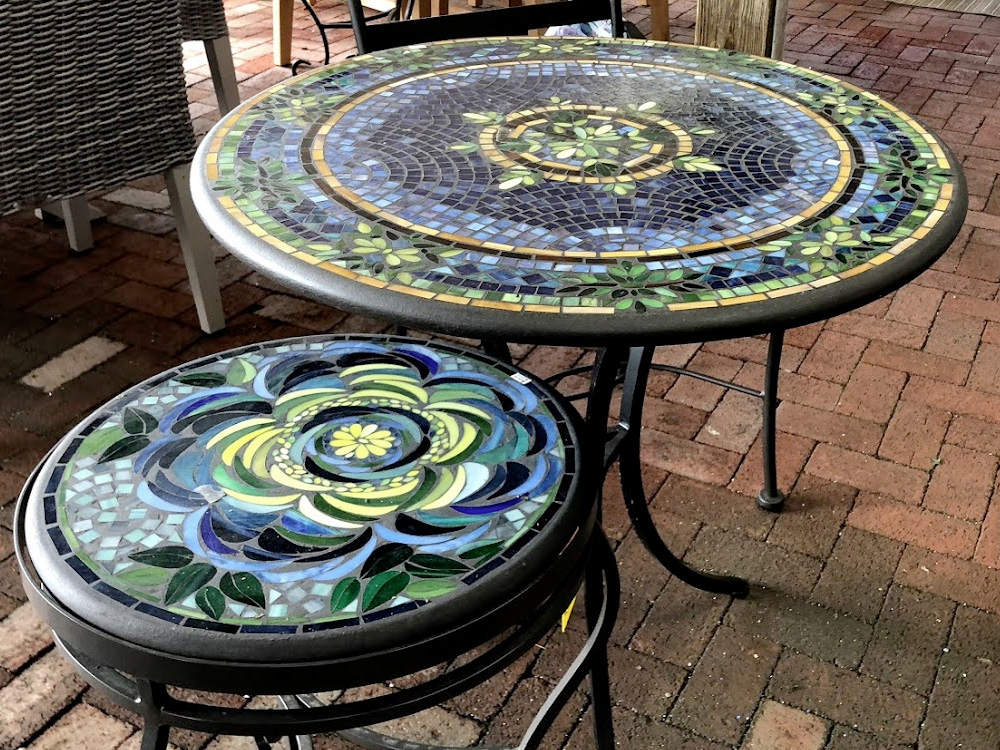Gorgeous Mosaic End Tables