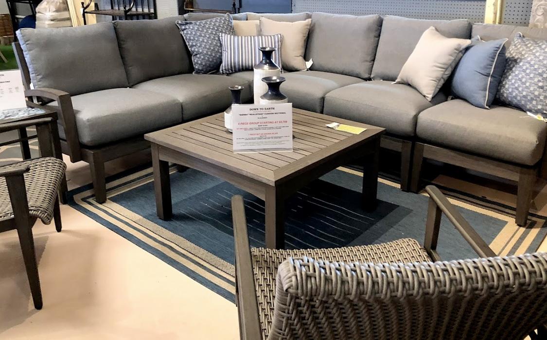 Deep Seating Set, Throw Pillows and Decorative Pieces