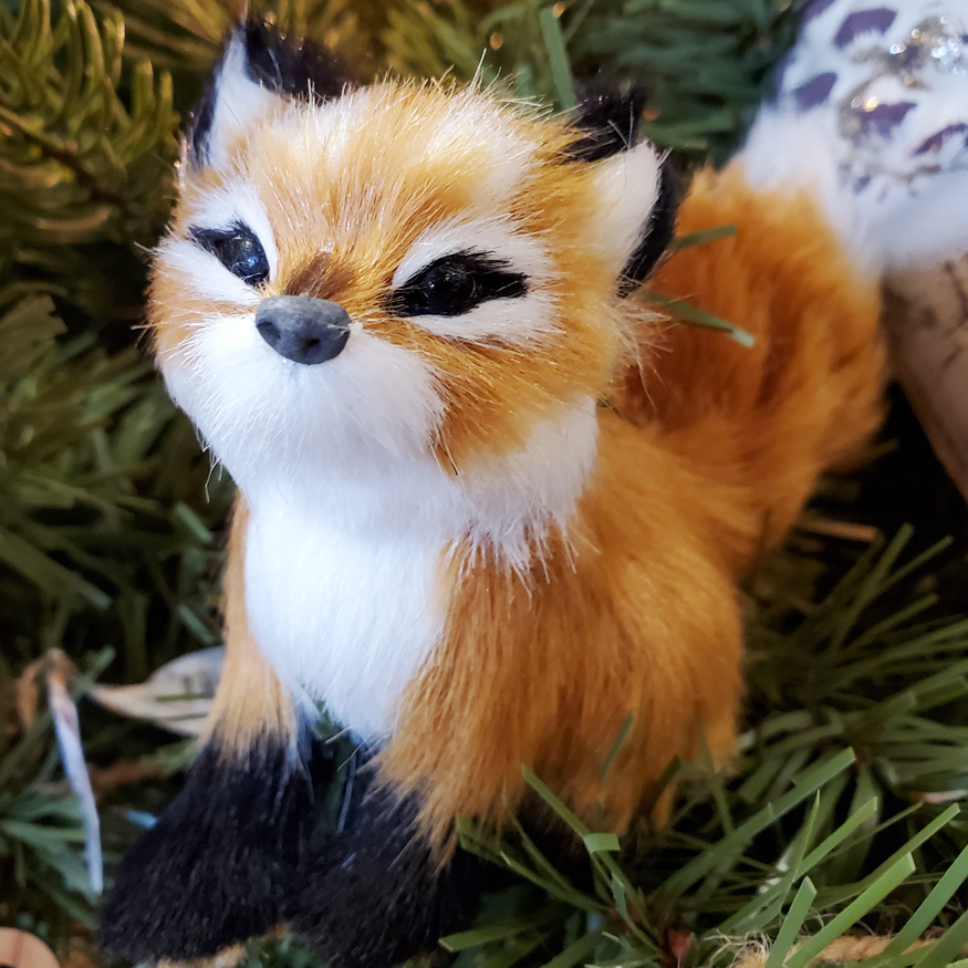 Cuddly Fox Ornament