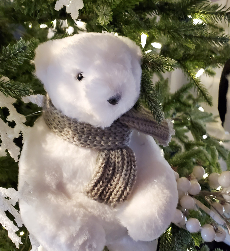 Adorable Polar Bear Ornament