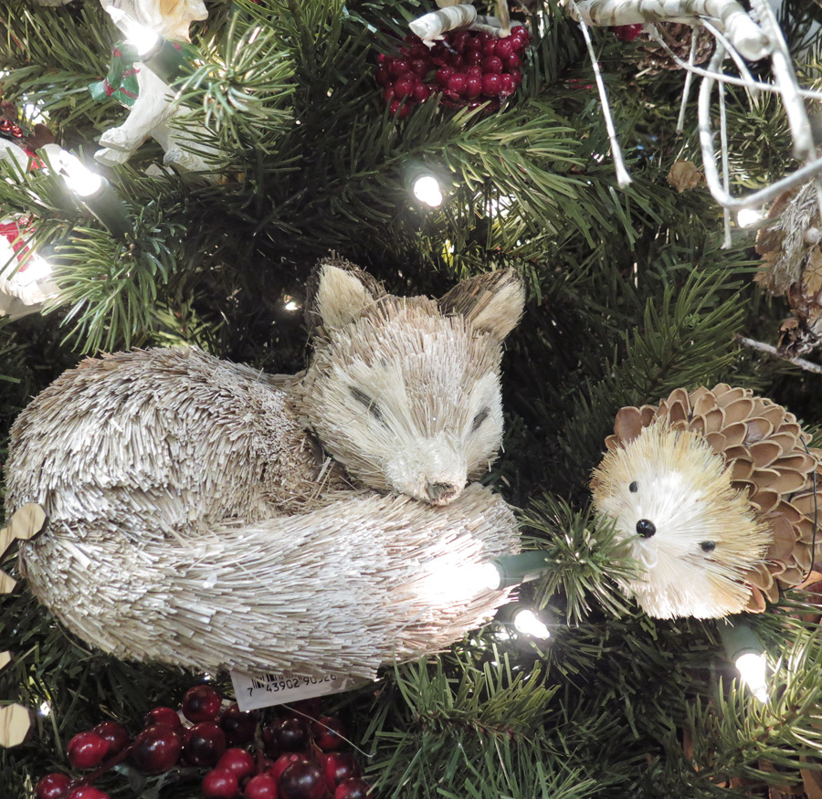 Fox and Hedgehog Christmas Tree Ornaments