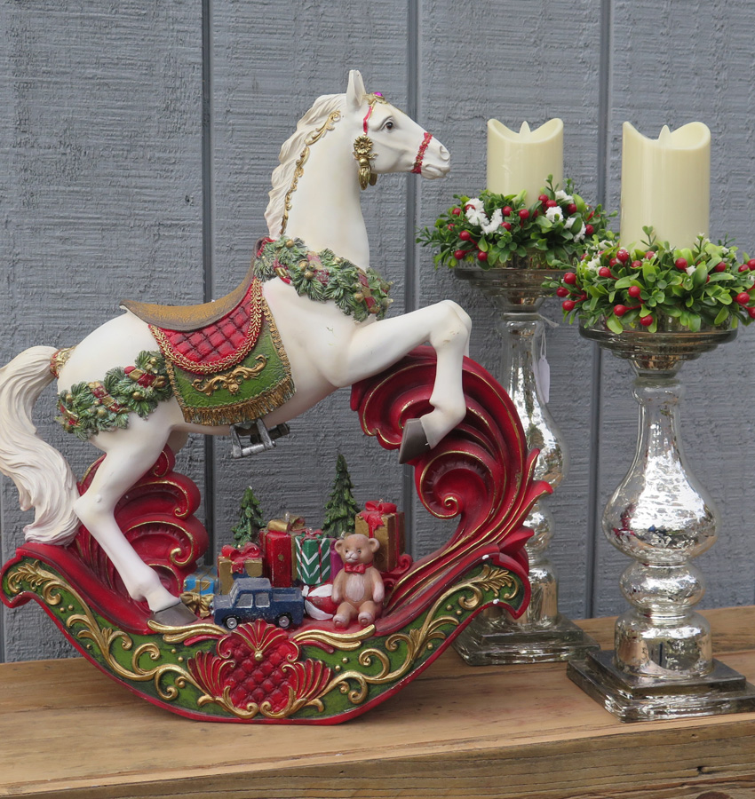 Rocking Carousel Horse and Candles