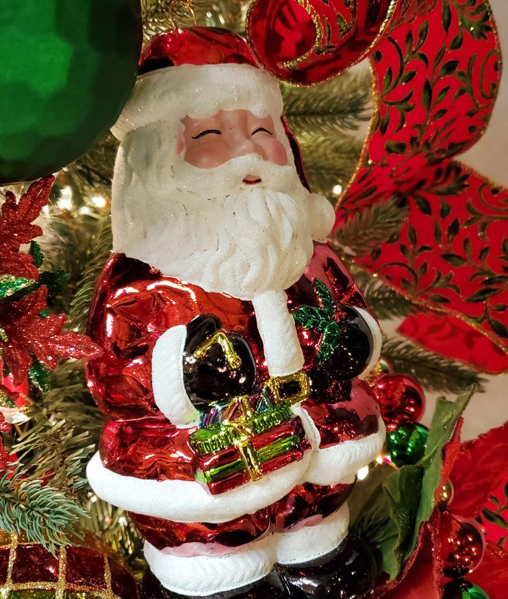 Jolly Santa Ornament