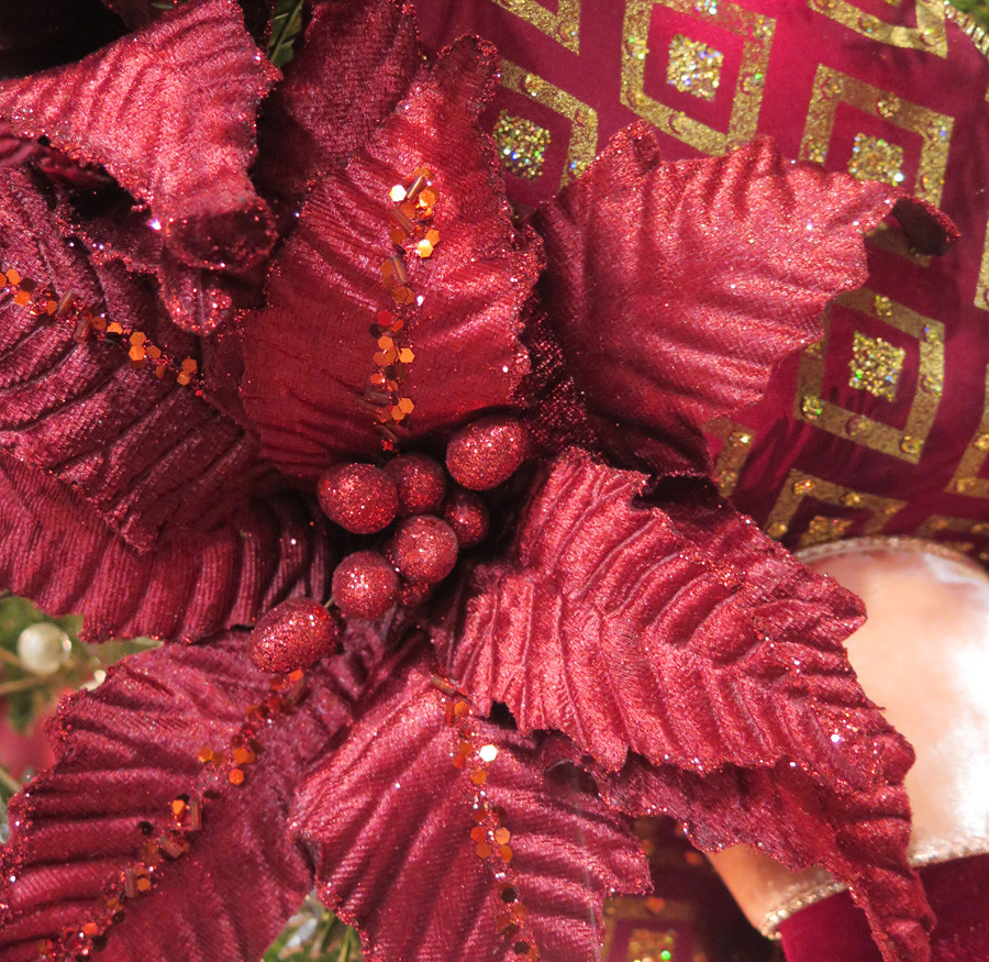Fabric Red Flower Ornament