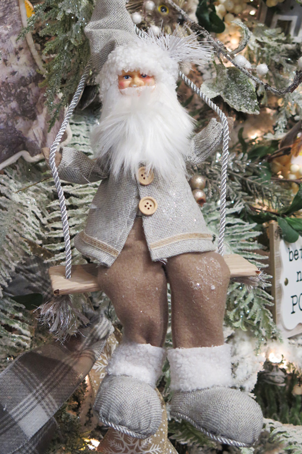 Swinging Santa Ornament