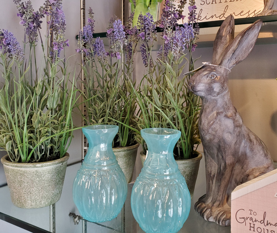Vases, Flowers and Easter Decor