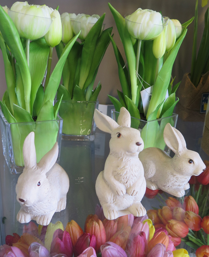 Easter Bunnies and Fresh-Cut Flowers