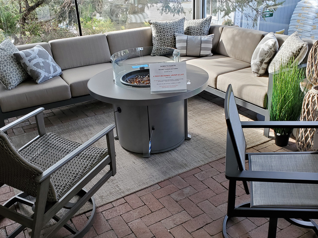 Milano Fire Pit and Deep Seating Set