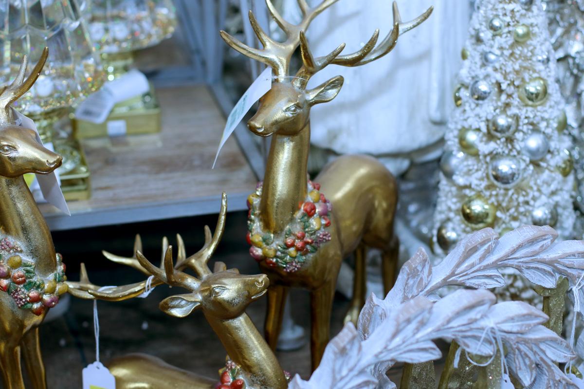 Decorative Brass Reindeer