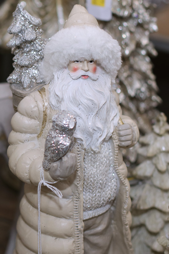 Modern Santa in Puffy Coat