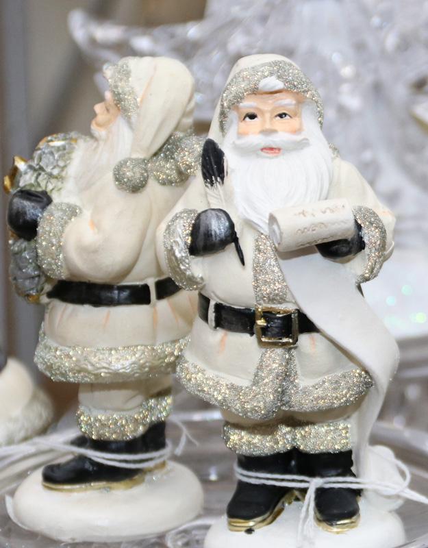 Snowy Santa Figurines