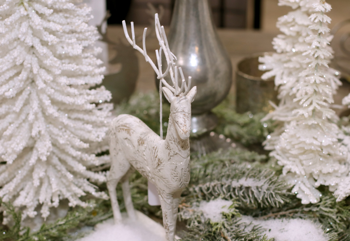 White Reindeer and Trees
