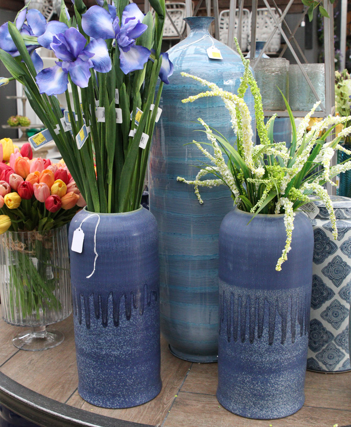 Blue Vases and Florals