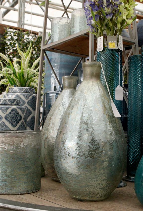 Cool metallic vases and jars
