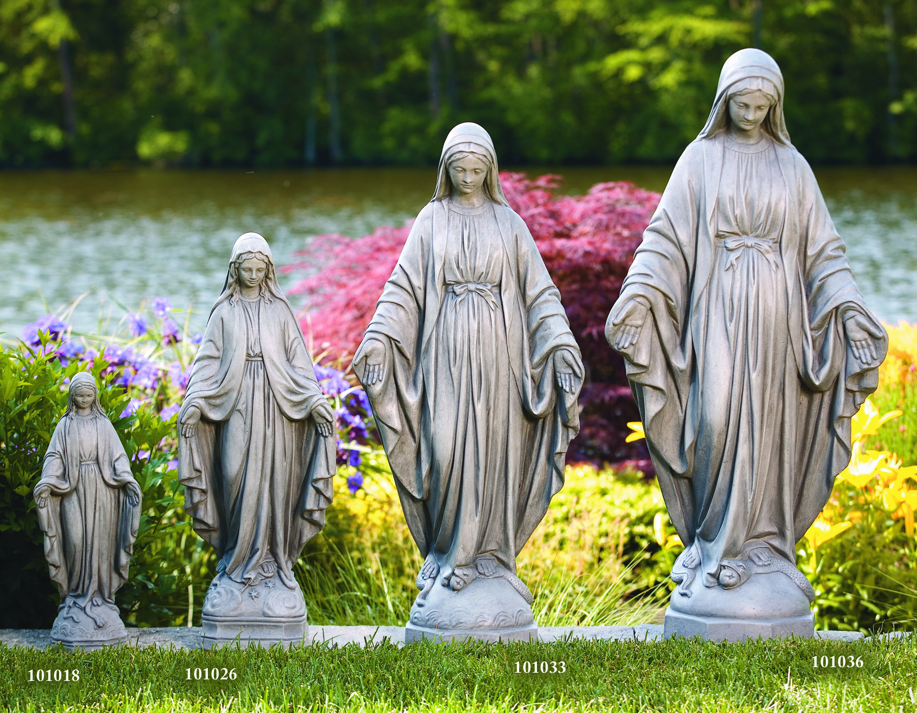 Blessed Mother in multiple sizes
