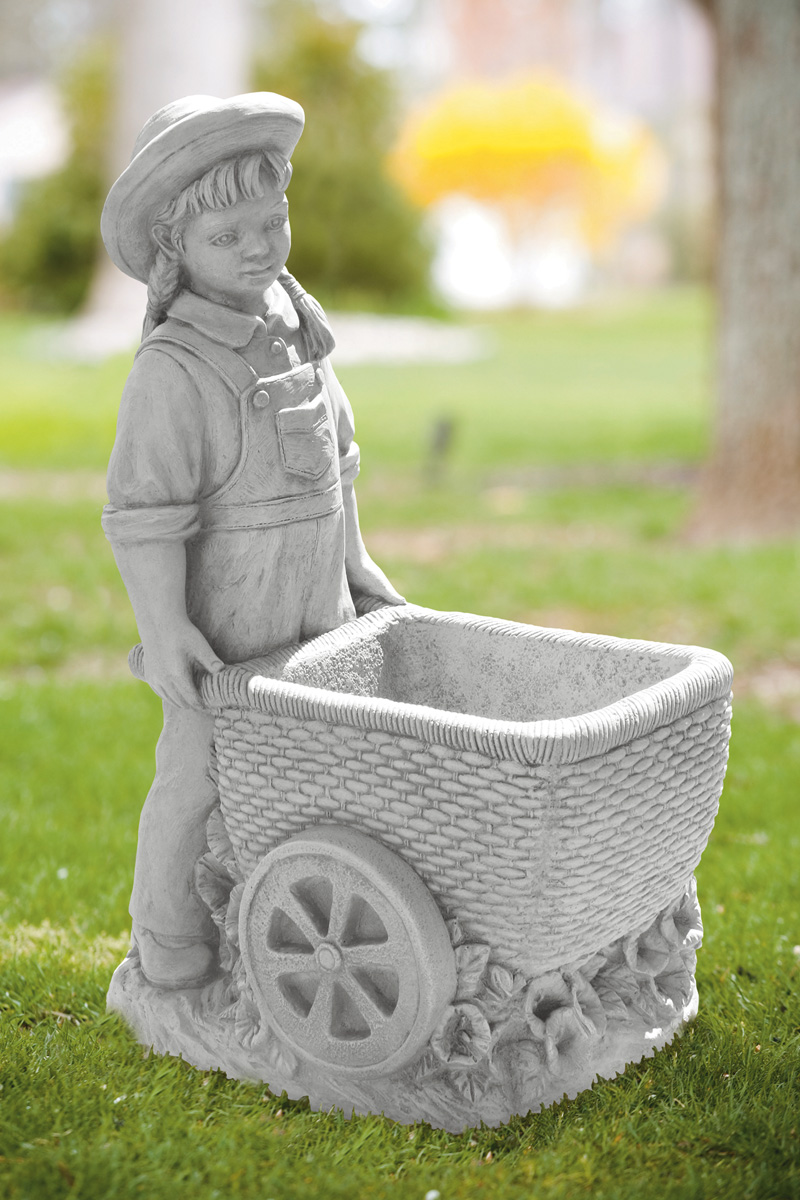 """26"""" Girl with Flower Cart"""