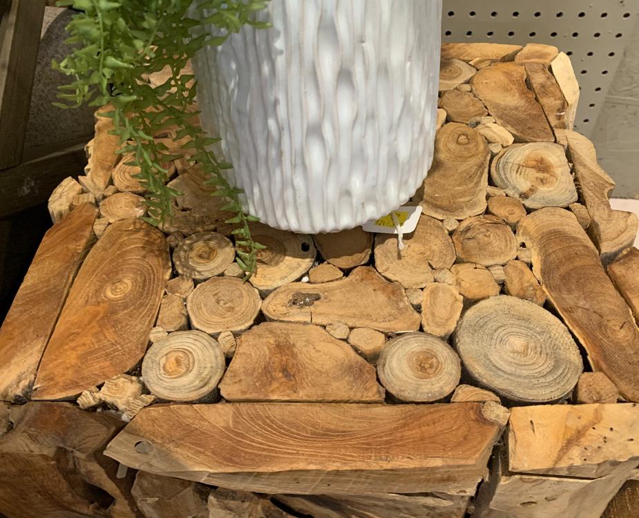 Unique Wood End Table
